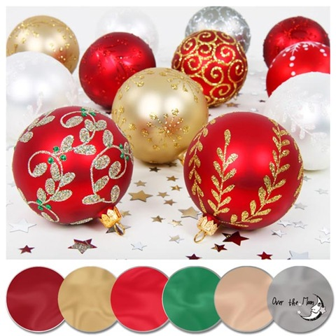 colour palette christmas baubles