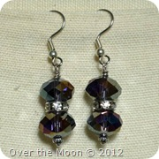 purple earrings with AB finish