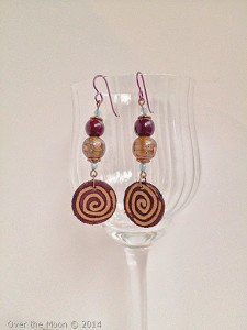 earrings, handmade, bead soup,
