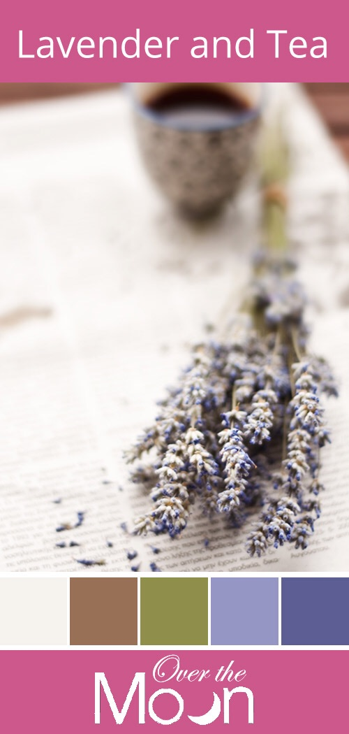 Lavender and tea, colour palette, over the moon
