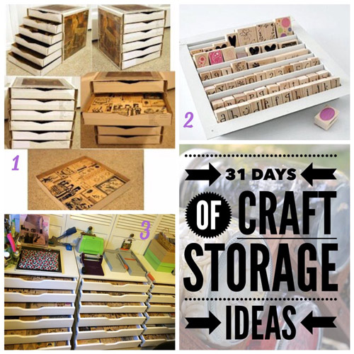 craft storage ideas, 31 days, scrapbooking, stamps