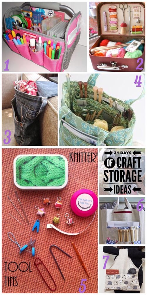 31 days, craft storage ideas, craft bags, project bags, WIP