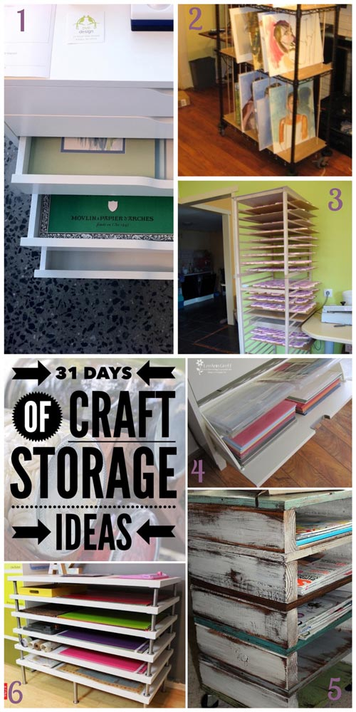31 days, craft storage ideas, art paper storage, canvas storage