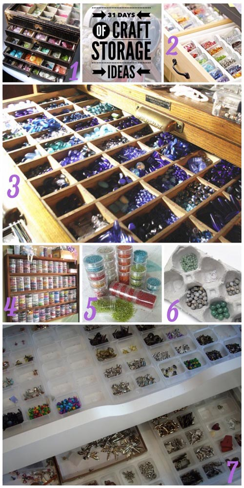 31 days, craft storage ideas, beads, bead stoarge