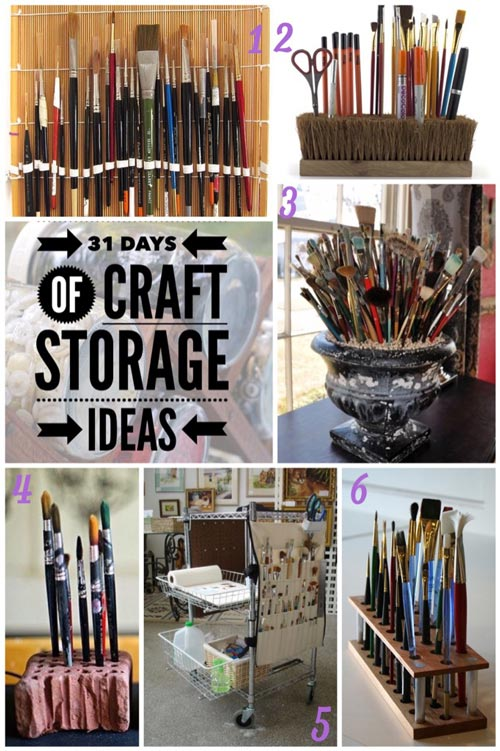 31 days of craft storage, brush storage, storing brushes