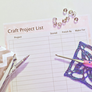 craft project list printable, craft storage ideas, printable