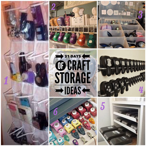 craft storage ideas, 31 days, scrapbooking, punches