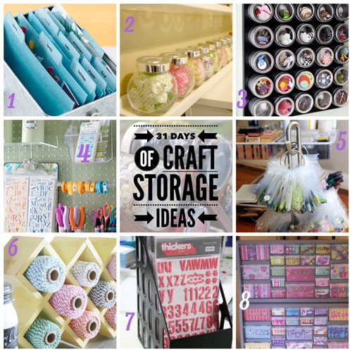 small embellishment storage, craft storage ideas, scrapbooking