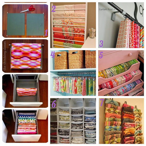 31 days, craft storage ideas, fabric, fabric storage