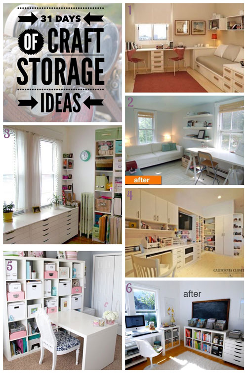 favourite craft rooms, favourite craft studios, craft storage ideas, 31 days