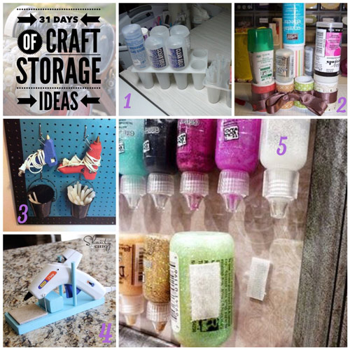 craft storage ideas, 31 days, glue