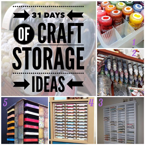 craft storage ideas, 31 days, ink storage, scrapbooking