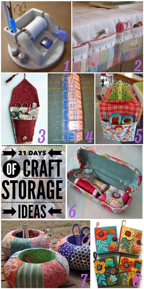 31 days, craft storage ideas, sewing notions, store notions, notion storage