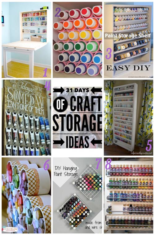 31 days, craft storage ideas, store paint, paint storage