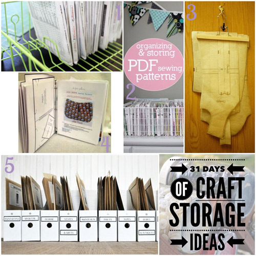 31 days, craft storage ideas, pattern storage