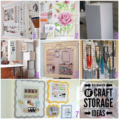 31 Days, Craft Storage Ideas, Pegboard Storage, Peg Board