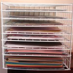 31 days, craft storage ideas, paper storage, repurpose, scrapbook
