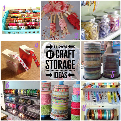 craft storage ideas, 31 days, ribbons