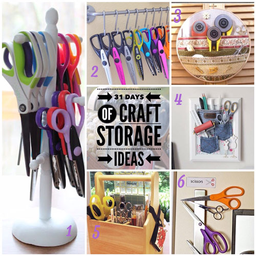 craft storage ideas, 31 days, scrapbooking, scissors