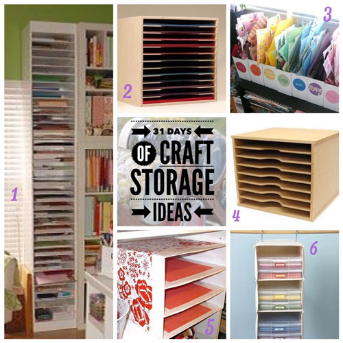 scrapbook paper storage, craft storage ideas, 31 days