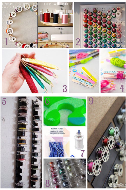 31 days, craft storage ideas, thread storage, sewing