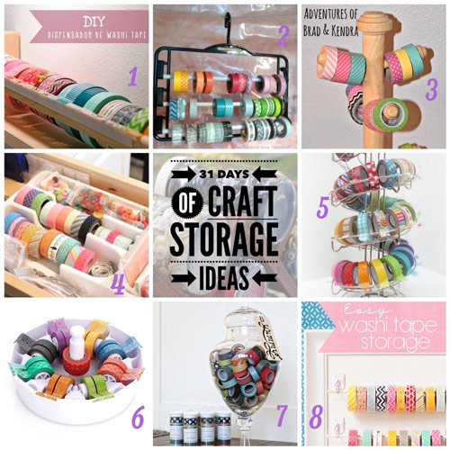craft storage ideas, 31 days, washi tape, washi