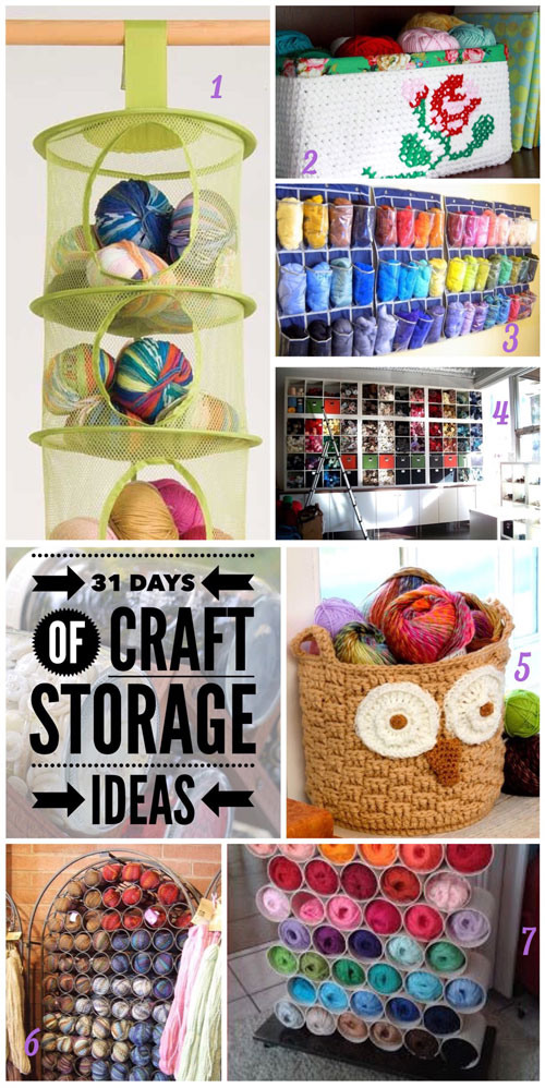 craft storage ideas, 31 days, yarn, knitting, crochet