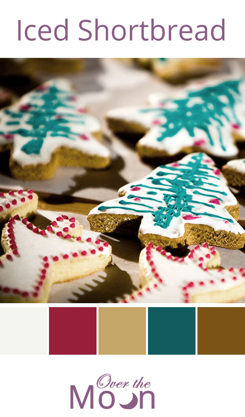 christmas, colour palette, iced shortbreads, Over the Moon