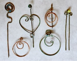 Viking style pin brooches