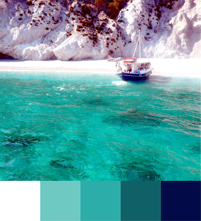 colour palette for the deep green of the sea