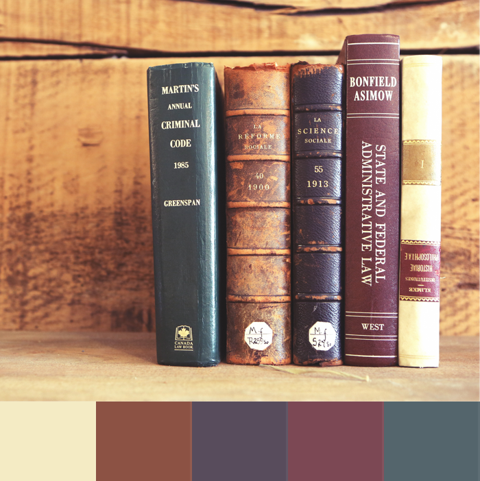 leather bound book palette