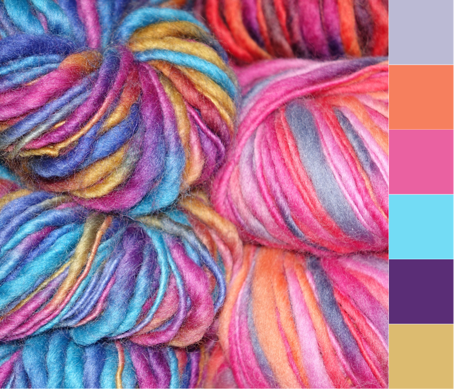 Over the Moon | Crafted Colour Palette - Rainbow Yarn